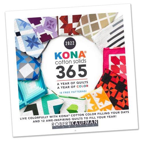 Kaufman Kona Cotton Solids 365 A Year of Quilts 2022 Calendar