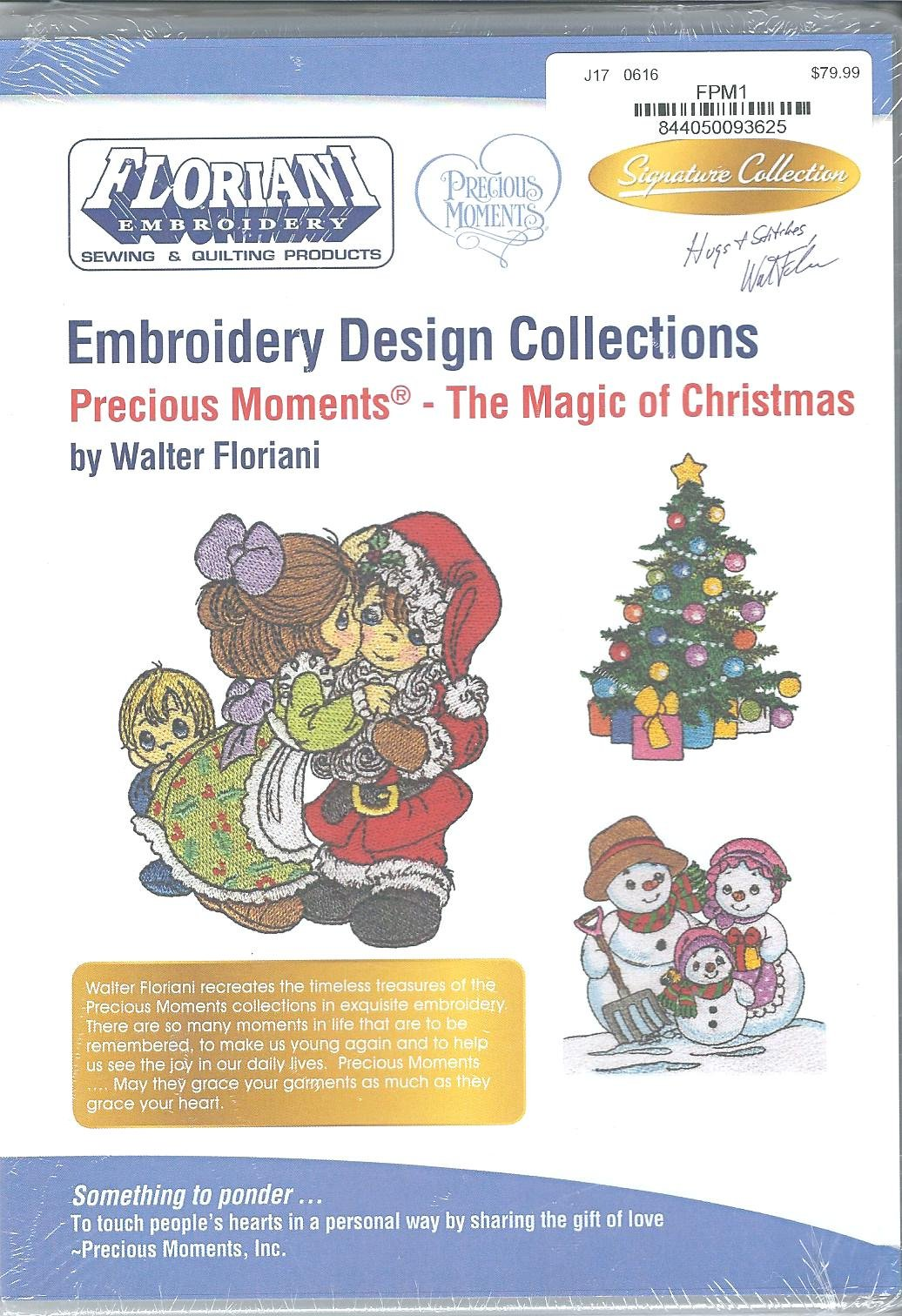 Floriani Embroidery Design Collection Precious Moments The Magic of Christmas