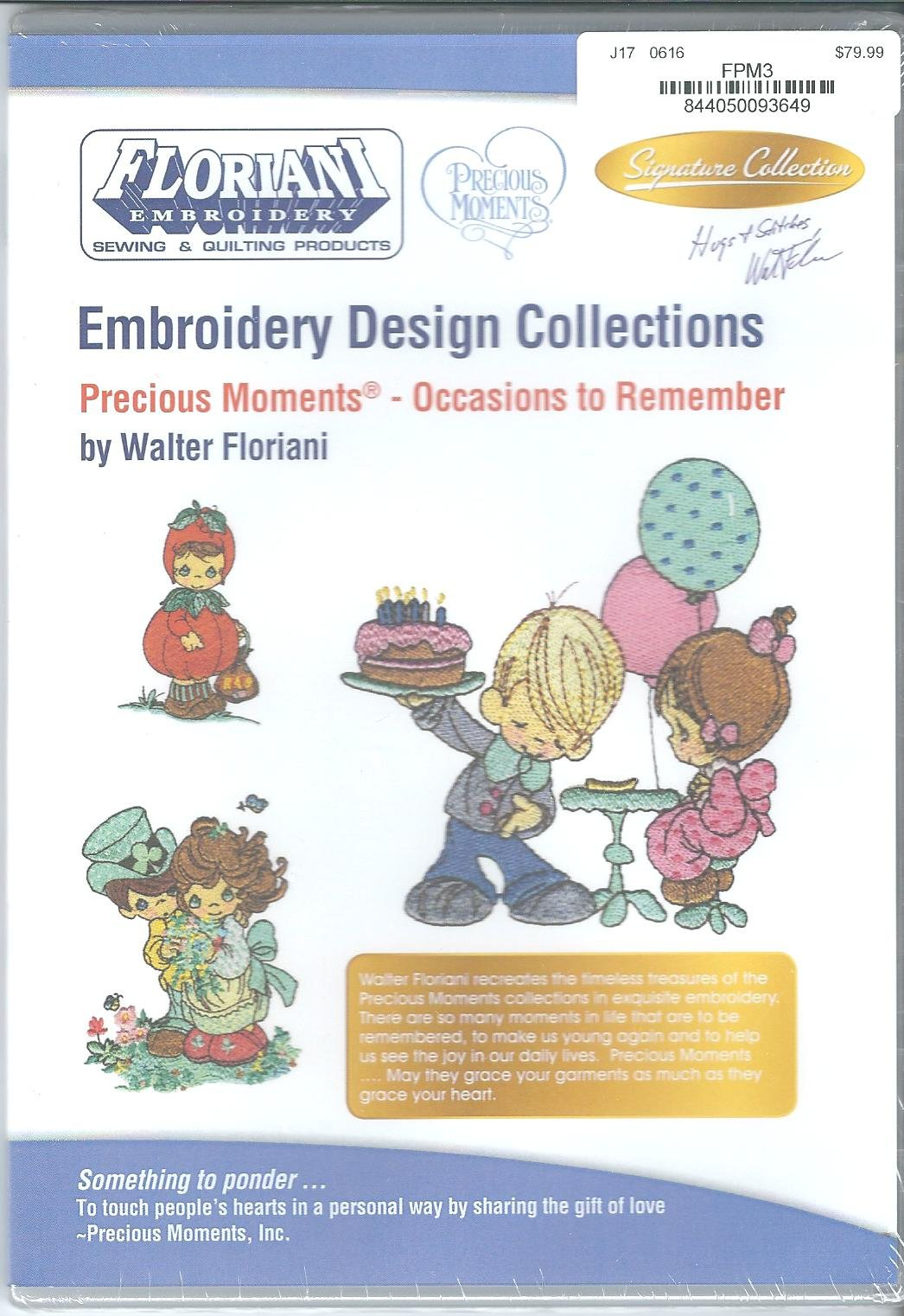 Floriani Embroidery Design Collection Precious Moments Occasions to Remember