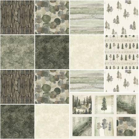 P & B Textile Forest Retreat 2 1/2 Strips, 40 pcs FRETSTRIPS