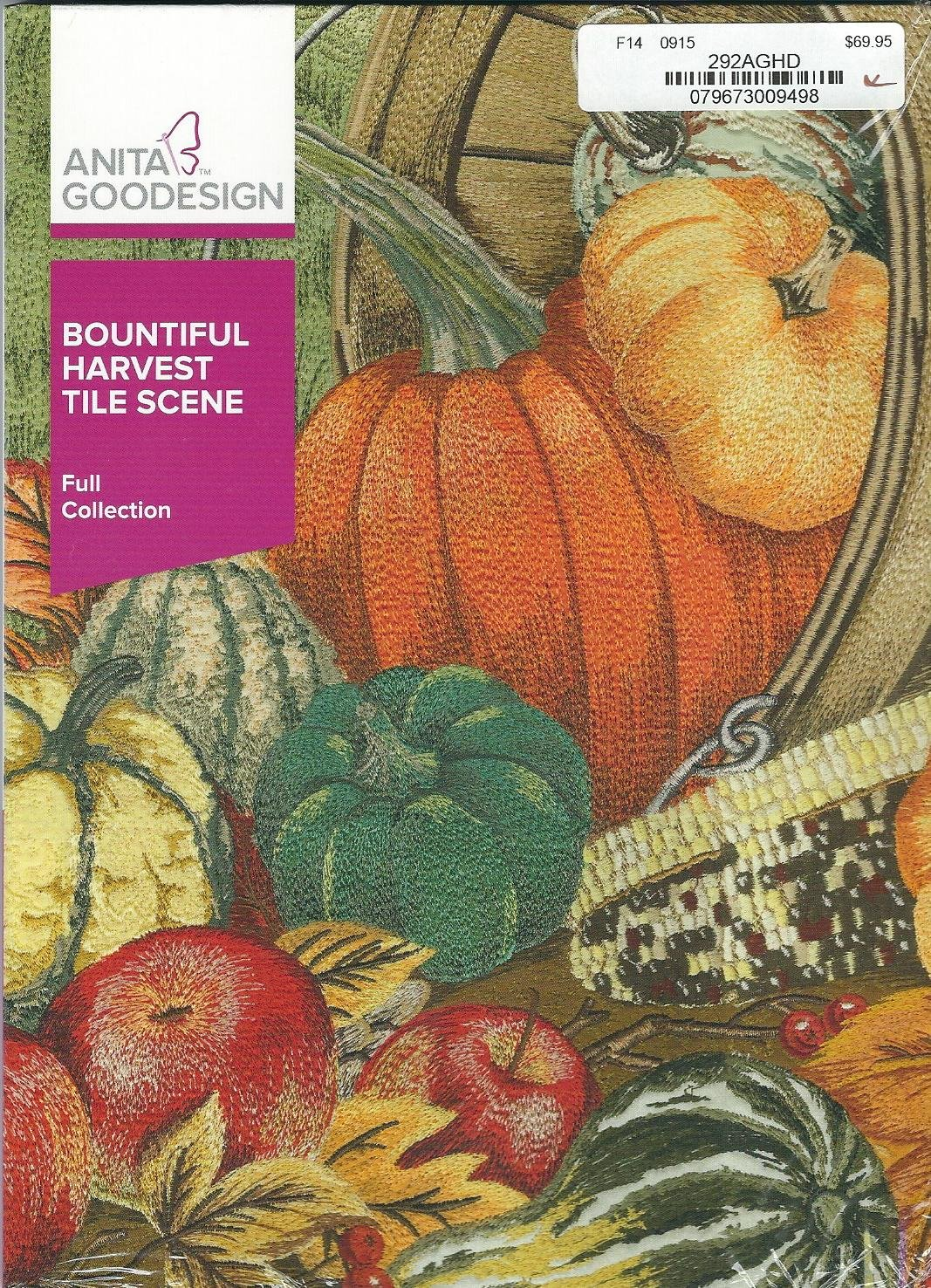 Anita Goodesign - Full Collection - Bountiful Harvest Tile Scene