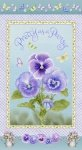 Henry Glass Pretty As A Pansy Panel 1015P 15