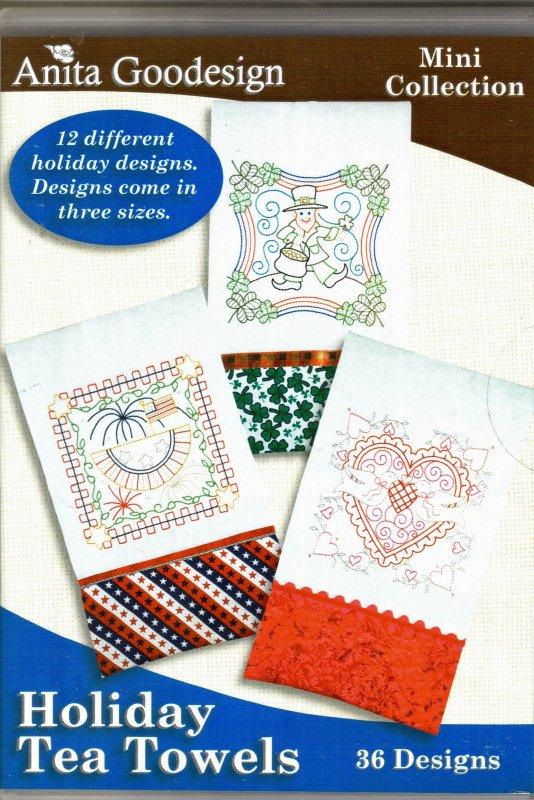 Anita Goodesign - Mini Collection - Holiday Tea Towels