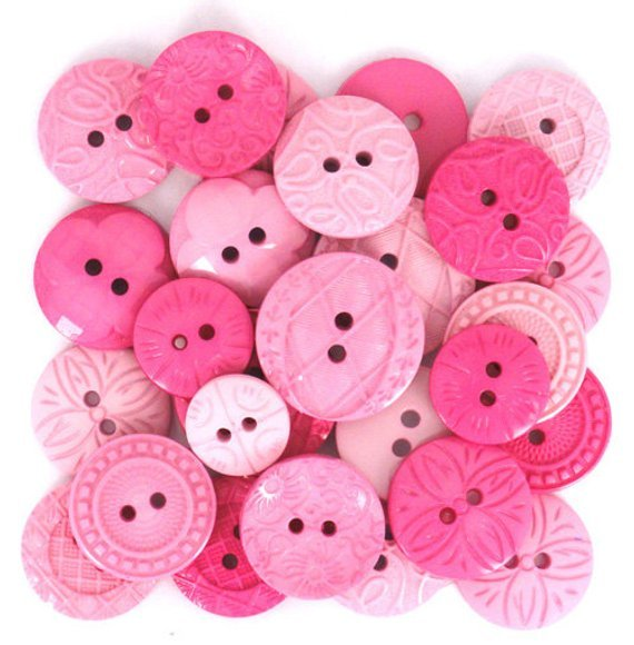 Buttons-Color Me Hot Pink