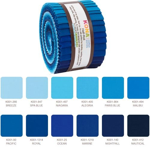 Kona Cotton Half Roll HR15424 - Waterfall Palette