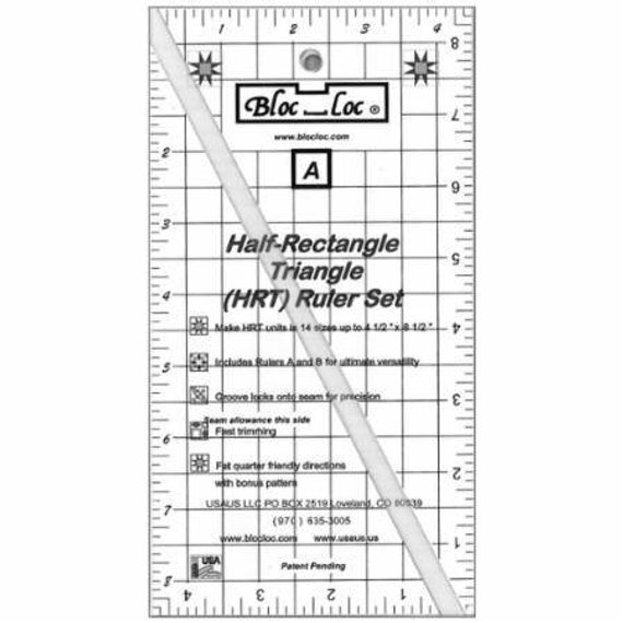 Bloc Loc Ruler Half Rectangle Triangle Set 2