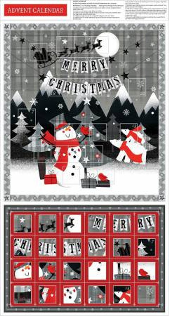 Paintbrush Studio Red + Grey Christmas Panel Advent Calendar 65091