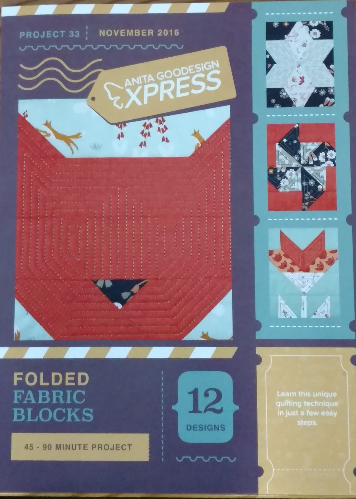 Anita Goodesign Express Folded Fabric Blocks