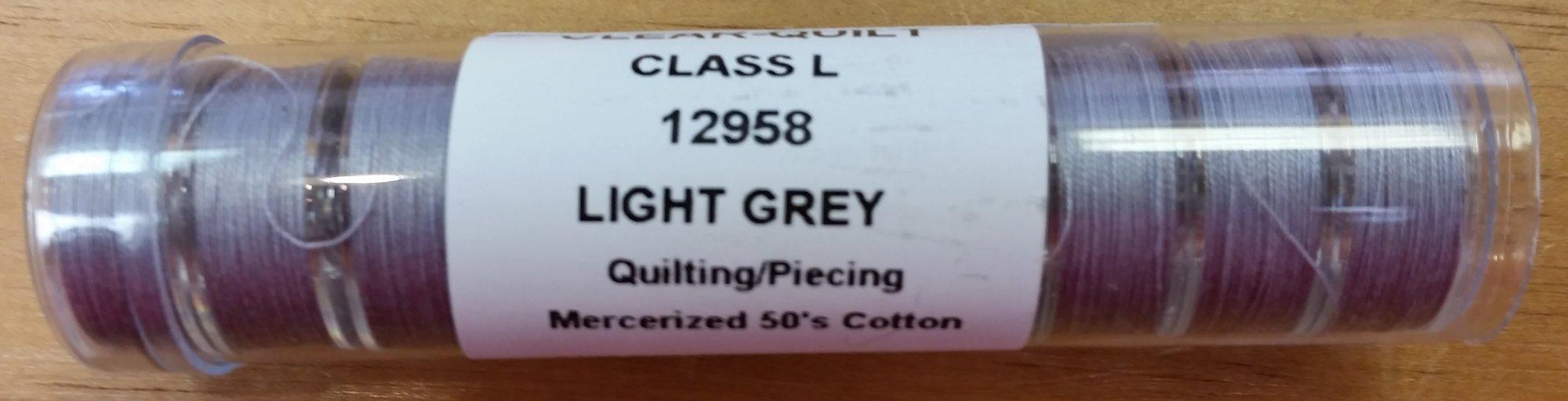 Prewound Bobbins Cotton Light Grey Tube