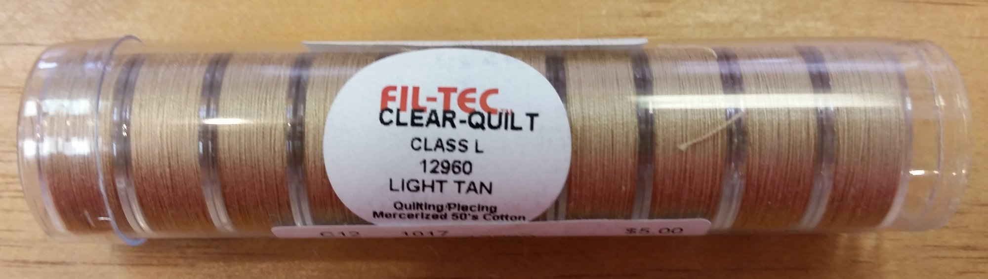 Prewound Bobbins Cotton Light Tan Tube