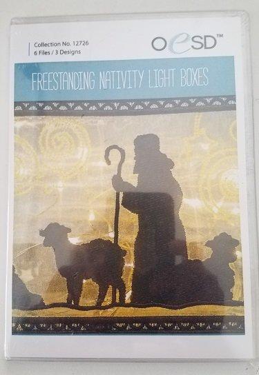 OESD Freestanding Nativity Light Box Cd