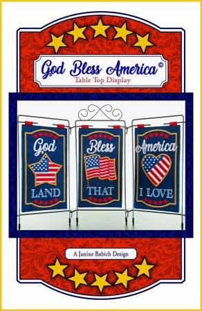 God Bless America Table Top Display a Janine Babich Design