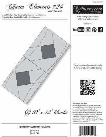 Charm Elements #24 Wavy Square