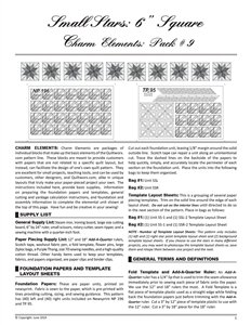 Charm Elements Pack #9 Small Stars 6 inch Square