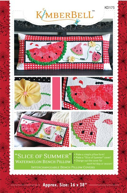 Slice of Summer Watermelon Bench Pillow