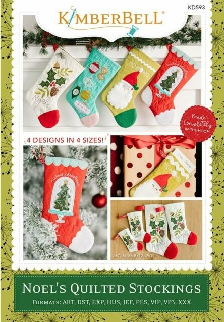 Kimberbell Noel's Quilted Stockings Machine Embroidery CD