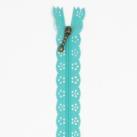 Kimberbellishments 14-Inch Robin's Egg Blue Zipper