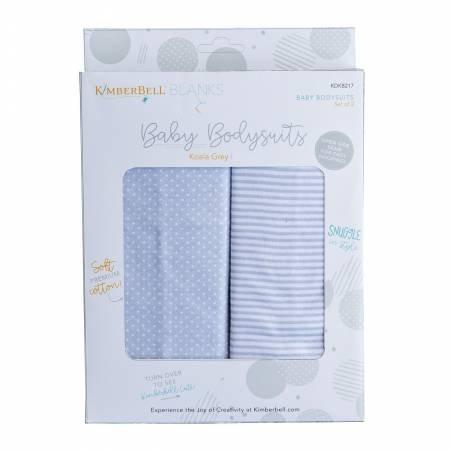 Kimberbell Baby Bodysuits - Koala Grey (3-6 months)