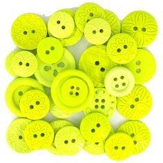 Buttons-Color Me Lime