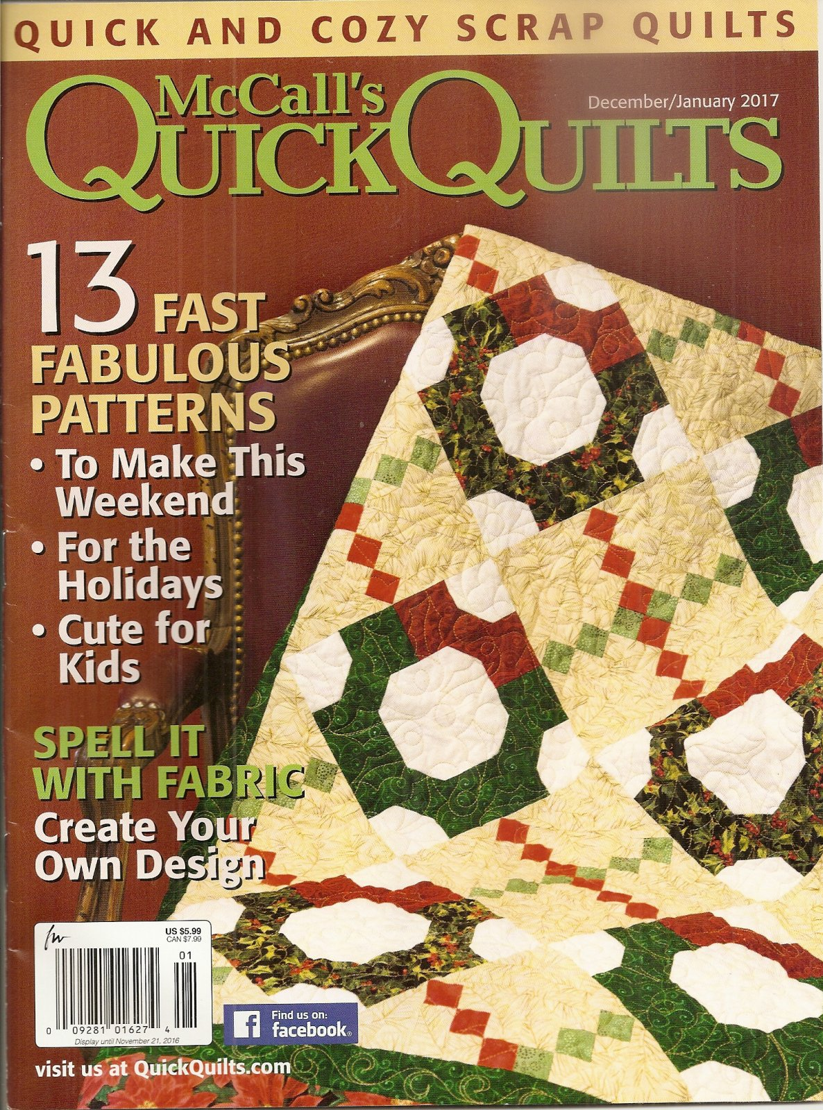 McCall's Quick Quilts December/January 2017