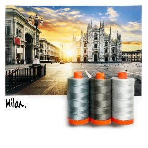 Aurifil Thread Club Milan Grey 010