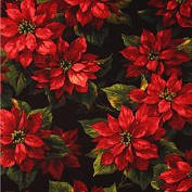Michael Miller Scarlet Poinsettia CJ3059 BLAC D