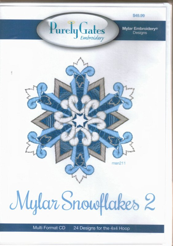 Purely Gates Embroidery - Mylar Snowflakes 2