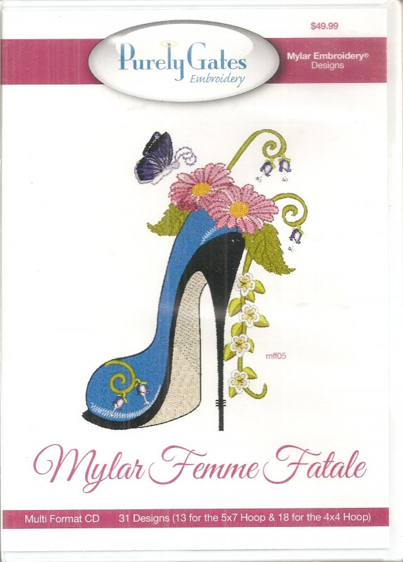 Purely Gates Embroidery - Mylar Femme Fatale