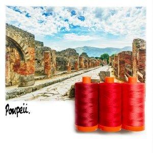 Aurifil Thread Club Pompeii Red 002