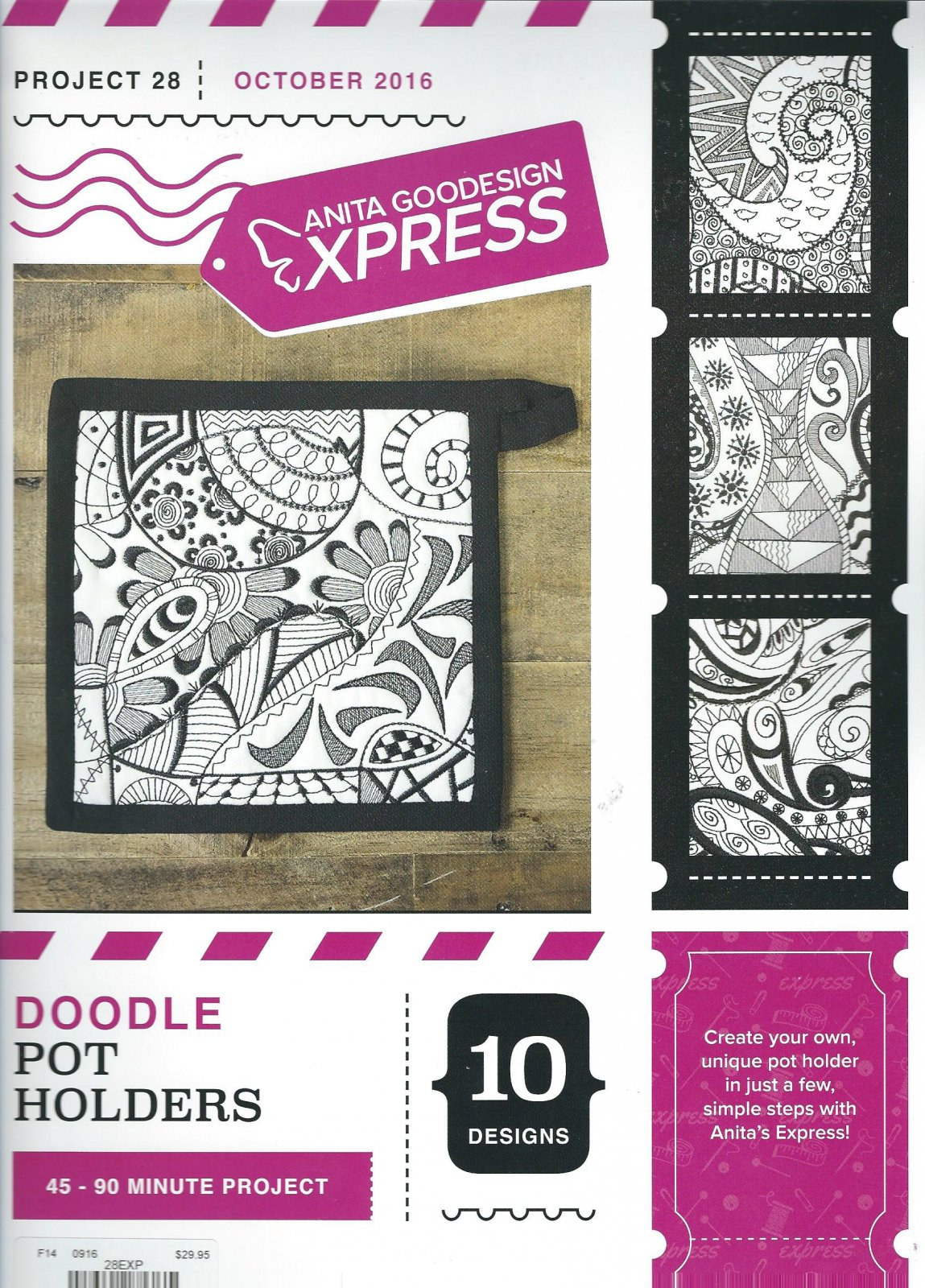 Anita Goodesign Express Doodle Pot Holders
