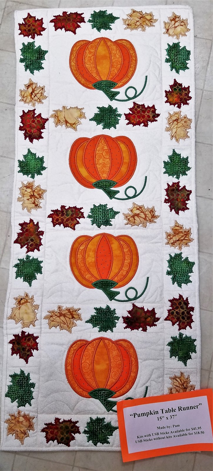 Pumpkin Table Runner Kit