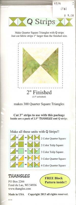 Q Strips 2 inch Quarter Squares