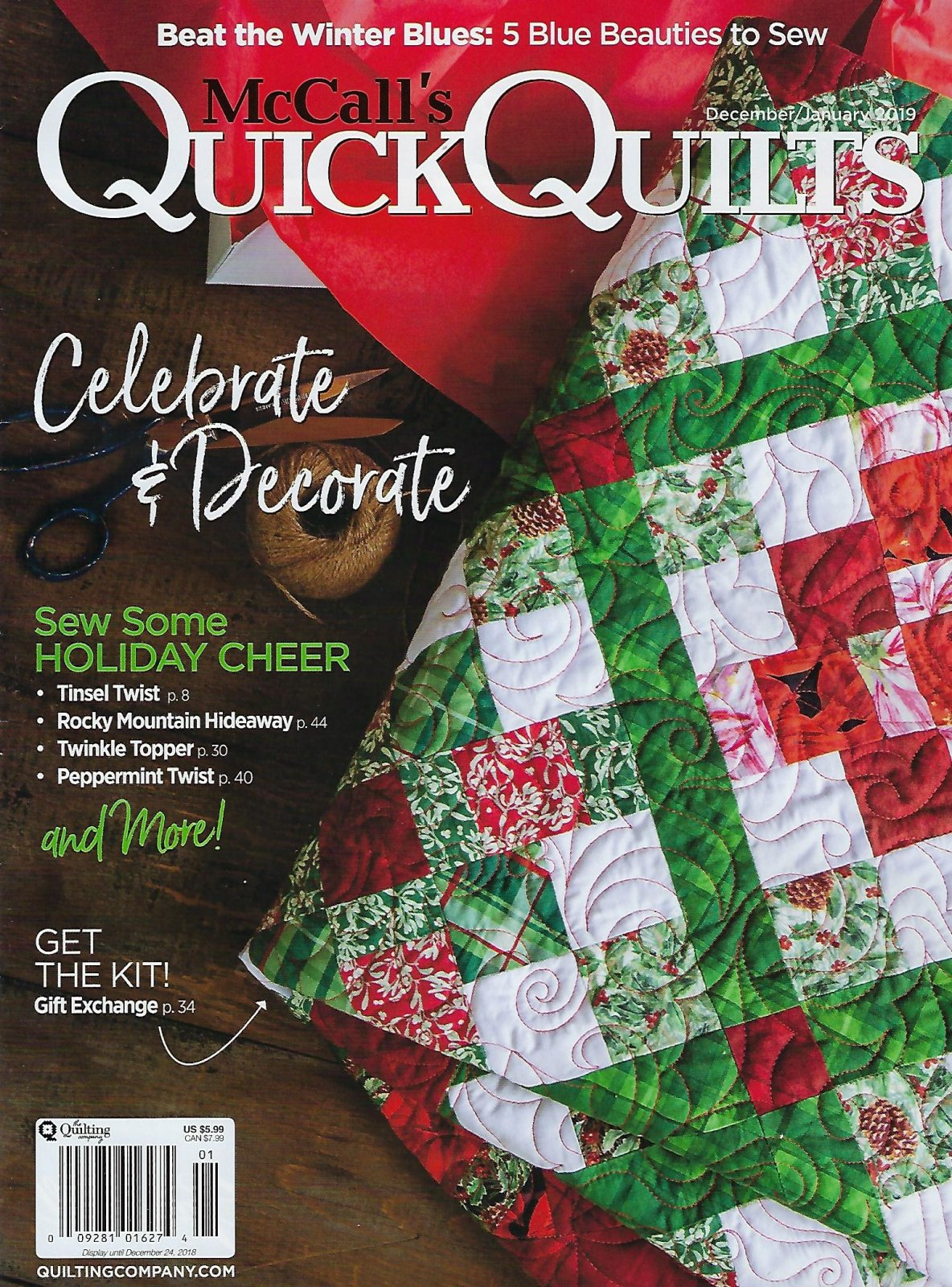McCall's Quick Quilts December/January 2019
