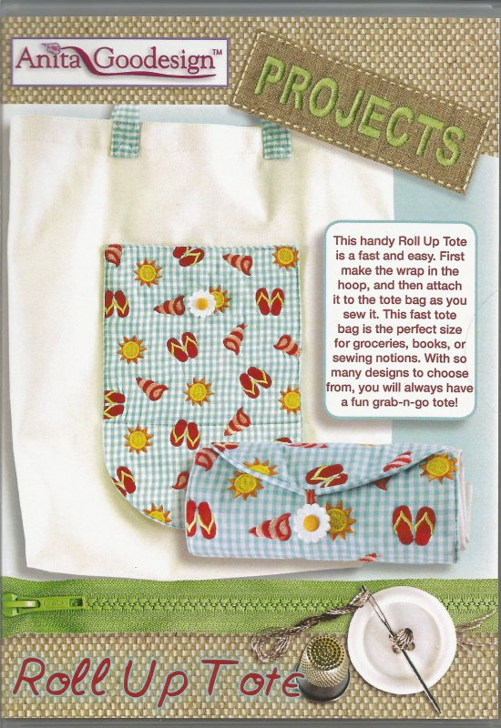Anita Goodesign - Project - Roll up Tote