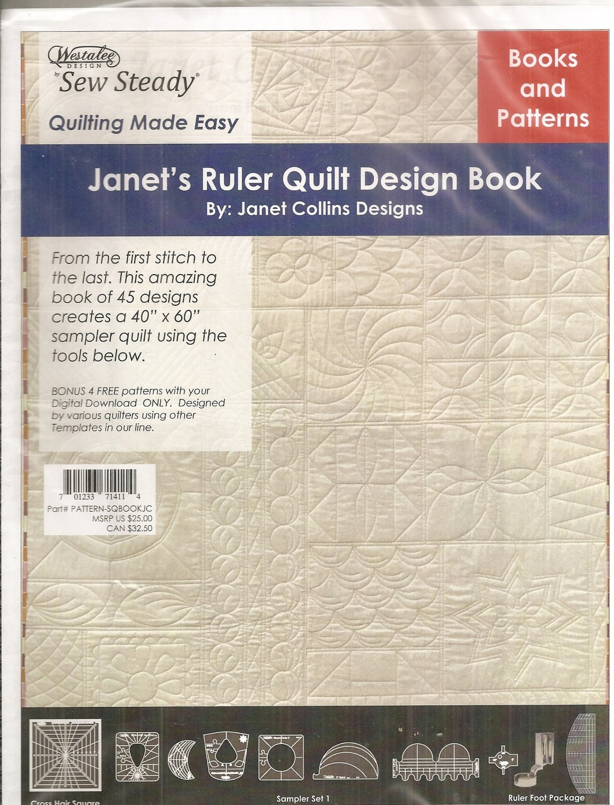 Janets Ruler Quilt Design Book 701233714114