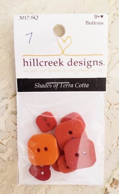 Buttons-Shades of Terra Cotta