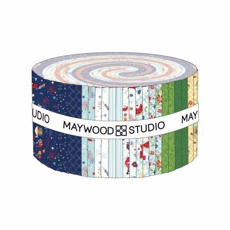 Maywood Red, White & Bloom 2 1/2 Strips, 40 Strip Roll