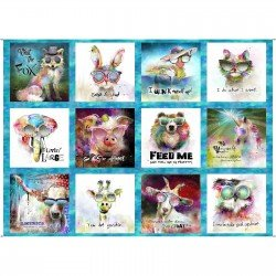 Three Wishes Fabric Good Dogs 12985 RED