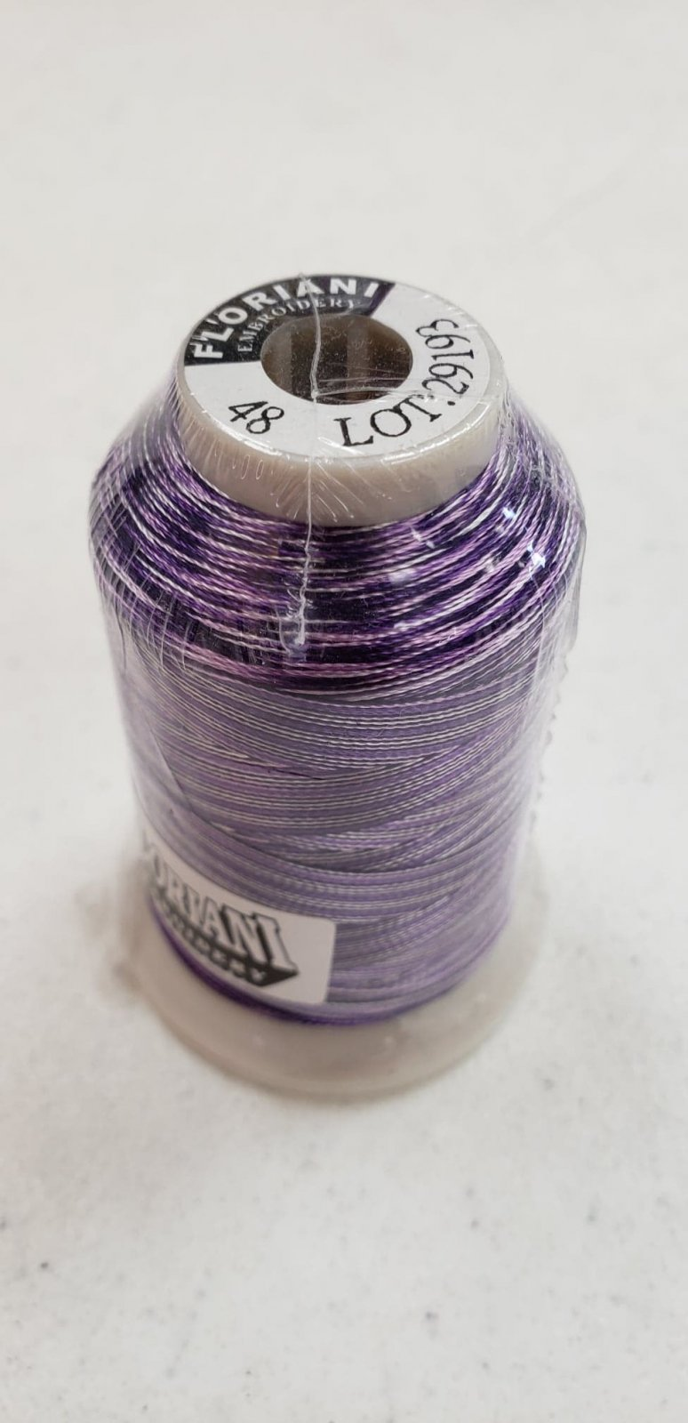Floriani Premium Variegated Embroidery Thread FV48 Royal Purple Stripe