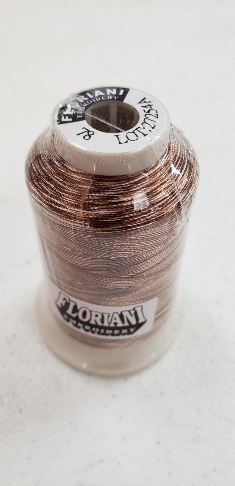 Floriani Premium Variegated Embroidery Thread FV78 Brown Stripe
