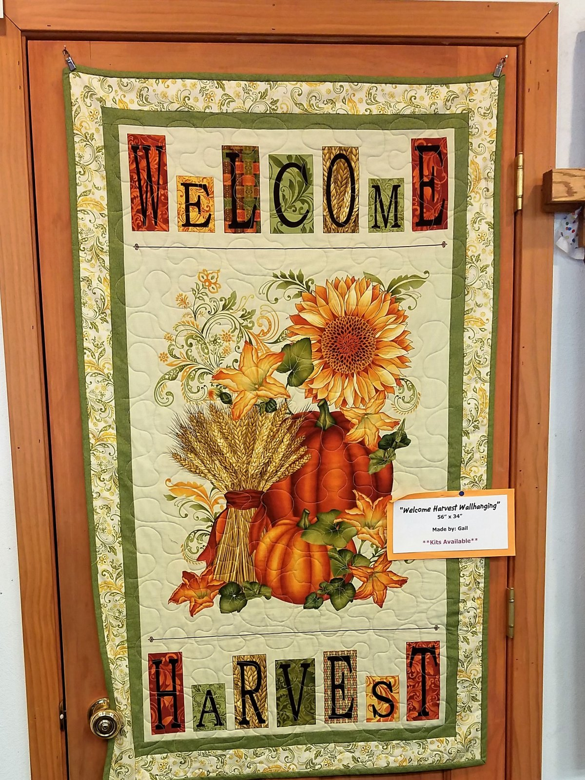 Welcome Harvest Wall Hanging Kit