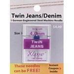Klasse Needle Twin Jeans 4.0/100 Package of 5 Card