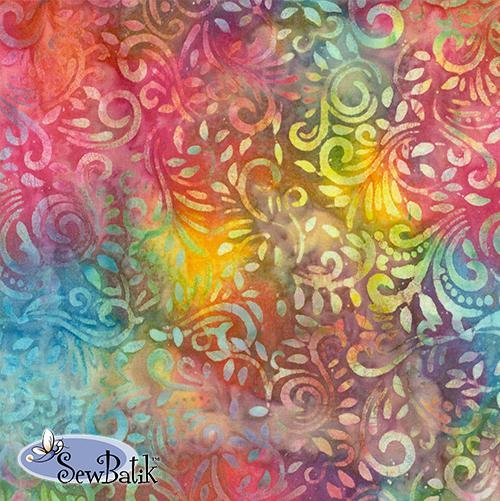 72inch Cotton Batik Jersey Knit Phoenix Rainbow