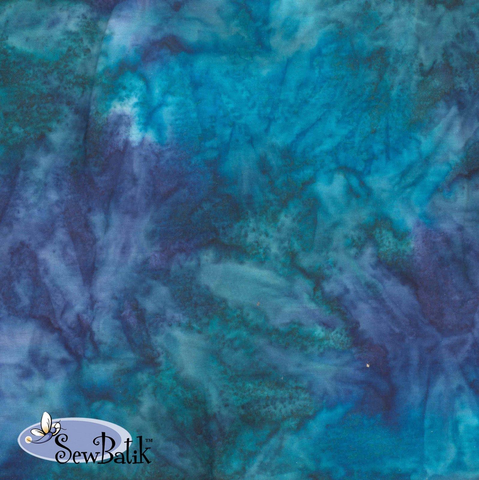 72inch Cotton Batik Jersey Knit Spray Lake