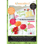 KD516 Kimberbell Welcome Spring Bench Pillow April - Machine Embroidery CD