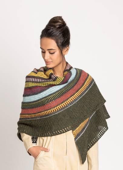 14 COLOR WOOLSTOK LIGHT SHAWL KIT (knit)