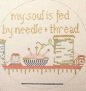 MY SOUL IS FED BY NEEDLE & THREAD