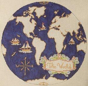 I'D LIKE TO TEACH WORLD TO STITCH ATLAS PILLOW