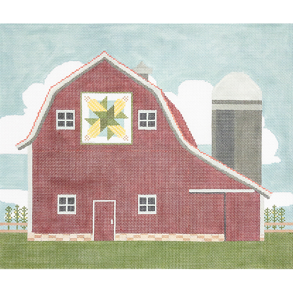 BARN WITH CORN QUILT 18 mesh