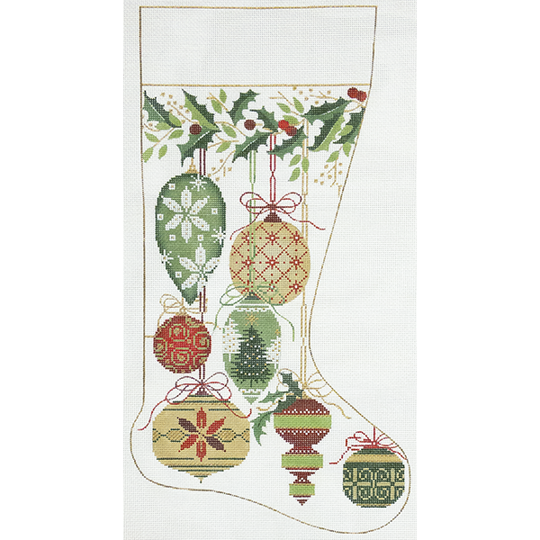 NATURAL COLOR ORNAMENT STOCKING